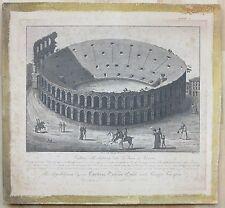 Angelo Biasioli c.1820 Arena di Verona etching Italian artist Italy Roman ruins