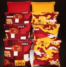 Iowa Cyclones Cornhole bags All Weather Plastic Resin Filled Cornhole Bean Bags