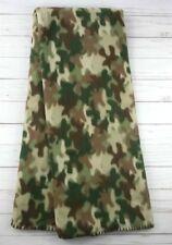 Fleece Throw Blanket Camo Hunting Lodge 50x60