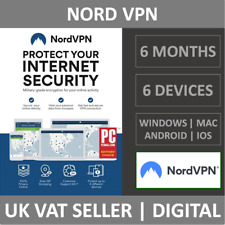 NordVPN Internet Privacy & Security VPN Software - 6 Device - 6 Months - License