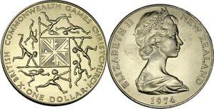 elf New Zealand 1 Dollar 1974 Commonwealth Games