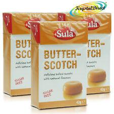 3x SCOTCH SULA burro sapore naturale dello zucchero senza glutine hard boiled DOLCI 42g