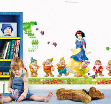 Grand Blanche Neige et Nains princesse Wall Stickers autocollant amovible chambre bébé fille
