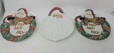Fitz and Floyd Collectible Christmas Plates Omnibus Lot of 3 Holiday Decorations