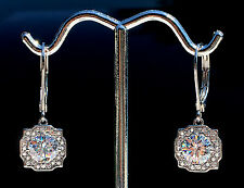2 ct tw Halo Earrings Top Russian Quality CZ Imitation Moissanite Simulant