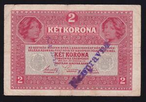 YUGOSLAVIA ---- 2 KRONEN  1917 --- WITH  SEAL  ---