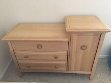 Ragazzi Baby Changing Table And Dresser With Drawers in Natural Light  Wood