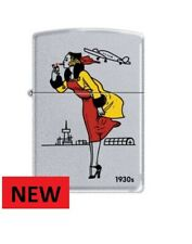 WINDY LADY 1930 GIRL  ZIPPO LIGHTER  FREE  UK. SHIPPING VERY RARE HARD TO FIND..