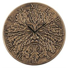 terracotta green man clock by lisa parker