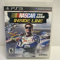 NASCAR The Game: Inside Line (Sony PlayStation 3, 2012) PS3 w/manual