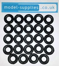 Matchbox King Size Black Treaded Reproduction Hard Plastic Tyres 18mm O/D