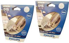 D1S PHILIPS  Xenon WhiteVision gen2 LED effect Lot de 2 ampoules  85415WHV2S1