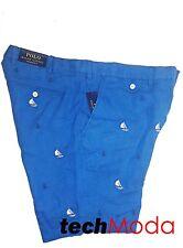 Polo Ralph Lauren Straight Embroidered Sailboat Anchor Nautical Linen Shorts 38