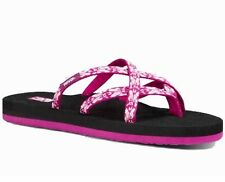 8d13c15fd New NWT Teva Women W Olowahu Hazel Magenta Shoe Flip Flop Sandal US Size 11