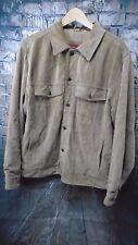 Eddie Bauer Men's Brown Tan Leather Jacket Seattle Washable Suede Large