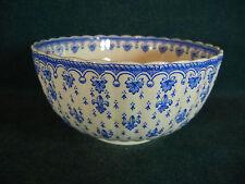 """Copeland Spode Blue Fleur de Lys Lis Earthenware 5"""" Rice / Cranberry Bowl(s)"""