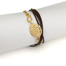 An Evil Eye Protection Bracelet shema Israel judaica kabbalah jewlery 18k plated