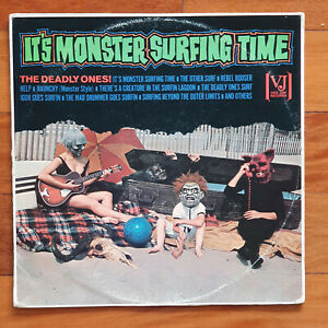SURFING SURF VINYL LP IT'S MONSTER SURFING TIME THE DEADLY ONES MONO