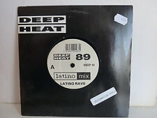 LATINO RAVE Deep heat 89 DEEP10 Sticker PROMO SAMPLE sur pochette