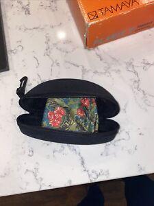MAUI JIM BLACK HARD NYLON CLOTH ZIPPER GLASS CASE NEW WITH COLORFUL POUCH!