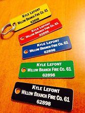 Fire Company Accountability Tags -Customized