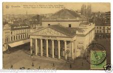 BELGIE 25.-1920 BRUXELLES -Theâtre Royal de la Monnaie et l'eglise Sainte-Gugule