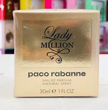 Lady Million by Paco Rabanne Eau De Parfum 1 oz Spray * New in The Box *