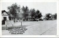 Yearys Tourist Court Service Station Corbin Kentucky 1940s Postcard Whitley Knox