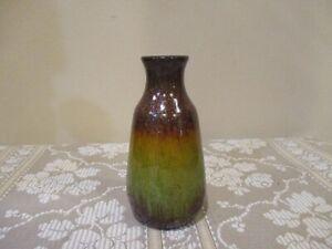 Glitter Bronze and Green Ceramic Bottle/Vase  (1pc)