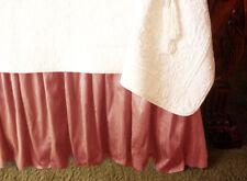 New Soft Surroundings Provencal Silk Bedskirt Rosetta King + Two Euro Shams