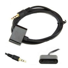 1.2M iPod Dock 30pin Female to 3.5mm Audio Aux Input Male Adapter Converter B/W
