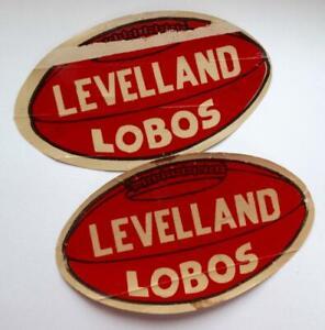 Vintage Levelland Lobos Texas Football Schedule 1949 & 1953