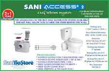 SANIFLO SANIACCESS 2 ELONG KIT W/EXTENSION, TRIM & SLOW CLOSE SEAT. 3YR WARANTY