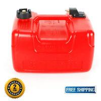 Fuel Tank - 3 Gallon Low Profile Red 12 L Portable Outboard Boat Motor Gas Tank