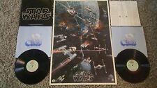 STAR WARS original soundtrack John Williams London Orchestra w/ rare poster LP