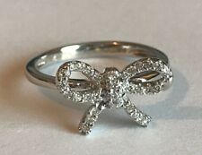 Diamond BOW ring in 9ct White Gold