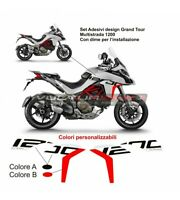 Kit Adesivi carene laterali Moto Ducati Multistrada 1200 design Grand Tour  V859