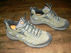 Merrell Size 9.5 Mens Radius Moss Hiking Shoe Outdoors Trail Lightly Used Vibram