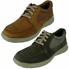 MENS CLARKS COTRELL LANE LEATHER LACE UP EVERYDAY CASUAL SHOES SIZE