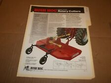 PY108) Bush Hog Sales Brochure 2 Pages - Eight Foot Rotary Cutters