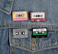 Retro Cassette Tape Music Vintage - Enamel Pin Pins Badge Badges Funny Quotes