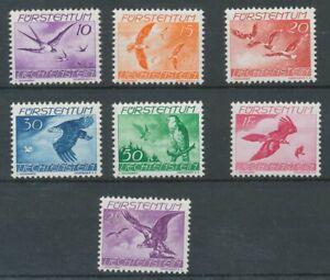 [P3] Liechtenstein 1939 airmail good set very fine MNH stamps value $65