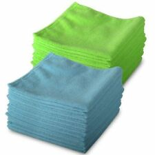 10 Blue & 10 Green Genuine Exel Brand Microfibre Magic Cleaning Cloths