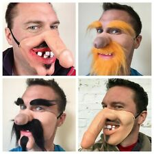 Funny Half Face Mask Dick Nose Willy Face Big Teeth Stag Hen Party Masks Costume