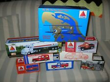 Lot Nos Collectible 1990s Ertl Citgo Toy Oil Truck Banks Gasoline Tanker Biplane