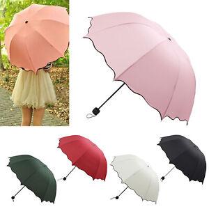 Portable Super Compact Folding Windproof Travel Umbrella Women Girl Summer UK