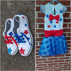 Weissman dance/pageant ooc patriotic girl 5, toddler girl shoes 13/1,fit like12