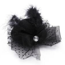 Clamp Barrette Hairpin Mini Hat Feather Hair Hairstyle Deco Women BLACK B6B Q6O4