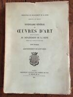 Inventaire Général des Oeuvres d'art département La Seine Saint-Denis Chaix 1879