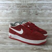 Nike Air Force 1 Youth Size 6.5Y University Red Low Top Basketball Sneakers